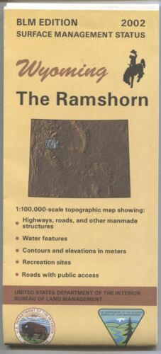 USGS BLM edition topographic map Wyoming THE RAMSHORN 2002 mineral