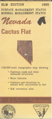USGS BLM edition topographic map Nevada CACTUS FLAT 1995 mineral