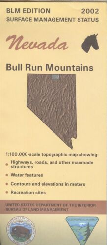 USGS BLM edition topographic map Nevada BULL RUN MOUNTAINS 2002