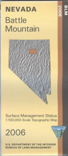 USGS BLM edition topographic map BATTLE MOUNTAIN Nevada 2006 surface 100K