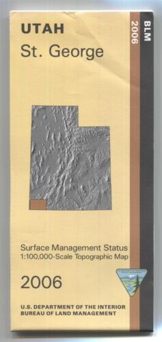 USGS BLM edition topo map Utah ST. GEORGE - 2006 - surface -small tear- 100K -