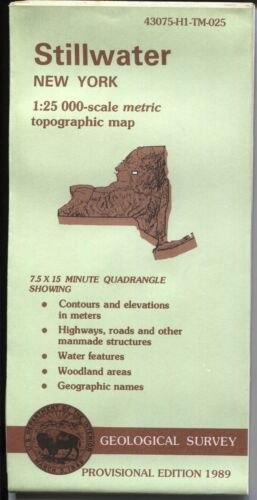 USGS Topographic Map New York STILLWATER 1989 provisional 25K