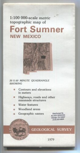 USGS Topographic Map FORT SUMNER - New Mexico - 1979 - stamped - 100K -