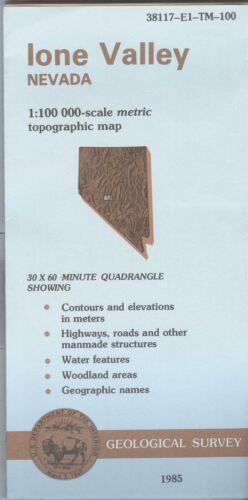 USGS Topographic Map IONE VALLEY Nevada 1985 - 100K -