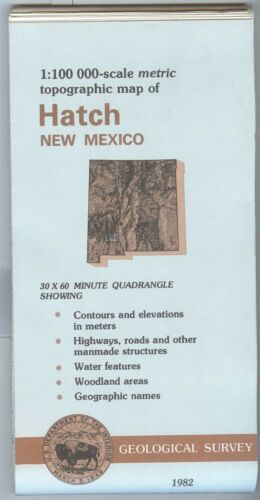 USGS Topographic Map  HATCH New Mexico 1982 - 100K -