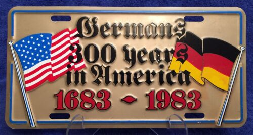 Concord Tricentennial 🍇 300 Years of Germans in America License Plate Sign ⛵