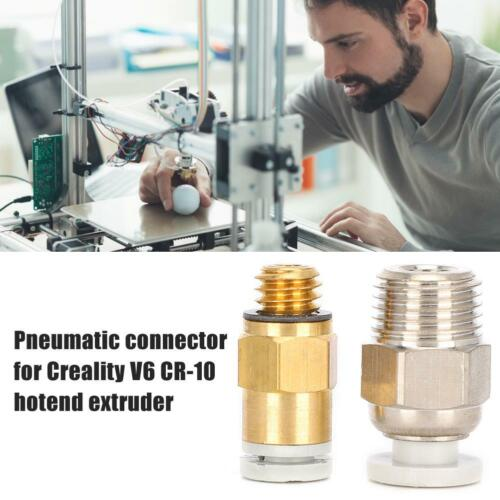 Metal 3D Printer Parts Hotend Extruder Pneumatic Connector for Creality V6