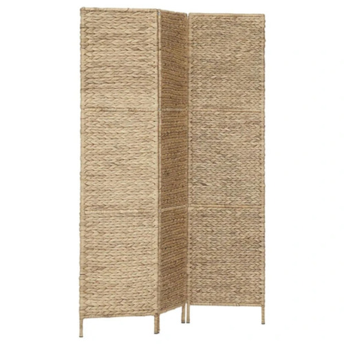 3 Panel Water Hyacinth Room Divider 116x160cm