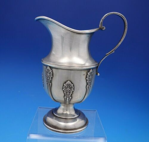 """Elkington Sterling Silver Creamer with Applied Design 6 1/8"""" Tall #22171 (#4636)"""