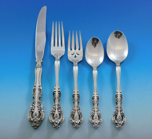 Michelangelo by Oneida Tradition Sterling Silver Flatware Set Service 40 Pieces