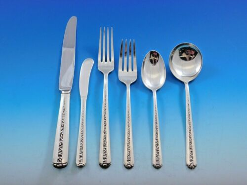Rambler Rose by Towle Sterling Silver Flatware Set for 12 Service 75 pieces
