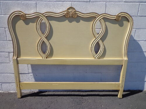 Headboard French Provincial Bed Vintage Bedroom Neoclassical Regency Furniture