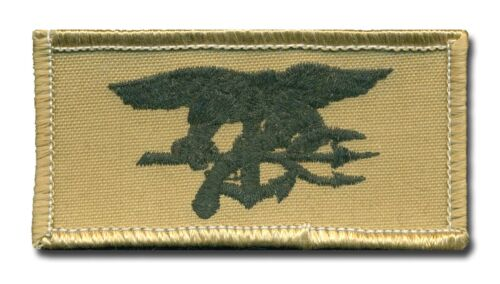 Small US Navy SEAL Desert Tan Trident patch   L251Navy - 66533