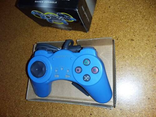 4gamers Blue wired controller for Sony Playstation and PS one, brand new/unused