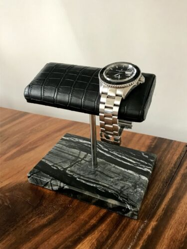 The Watch Holder / Stand / Expo / Display  <br/> Spanish Marble & Italian Leather