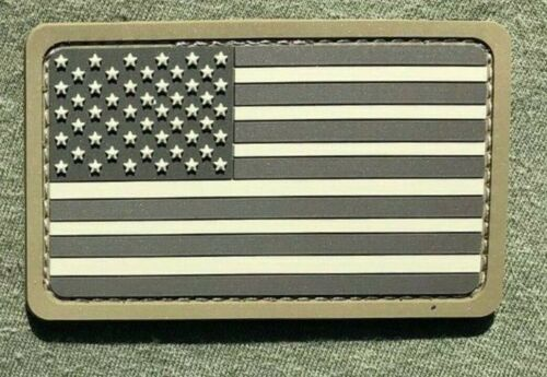 3D PVC USA AMERICAN FLAG TACTICAL MORALE RUBBER HOOK PATCH Army - 48824