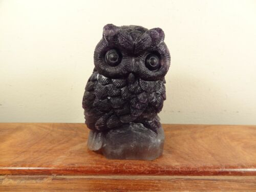 Natural Amethyst Carving Owl