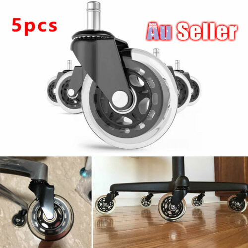5pcs Rollerblade Rolling Grip Office Caster Desk Ring Chair Wheels