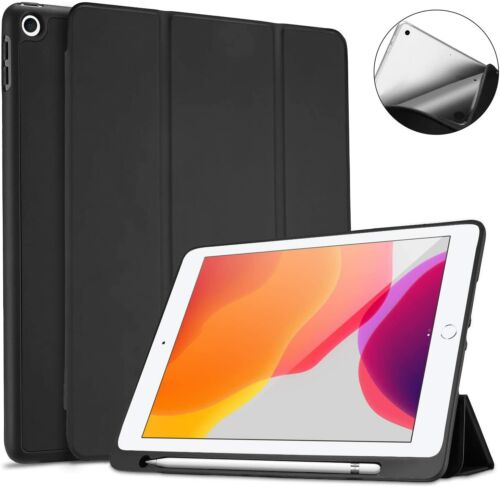 Apple iPad 10.2 Case 2019 with Pencil Holder Ultra Slim Case Back Cover 7th Gen