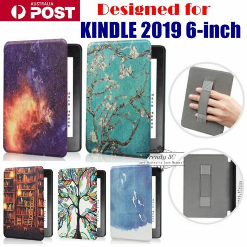 """For Kindle 2019 6"""" inch Pattern Unique Handle Carry Shockproof Tough Cover Case"""
