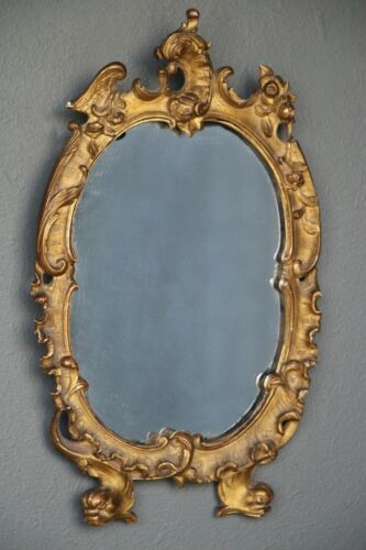 French antique rococo mirror superb quality gilt wood carving Louis XIV baroque