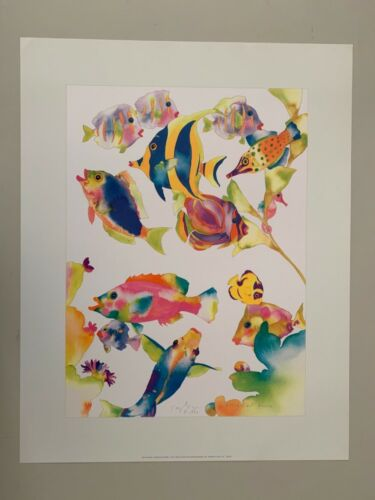 TRACY TAYLOR,'FRESH, NOT FROZEN,1990' AUTHENTIC 1991 ART PRINT