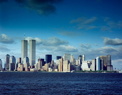 World Trade Center Towers Photograph - Vintage Photo from 1980