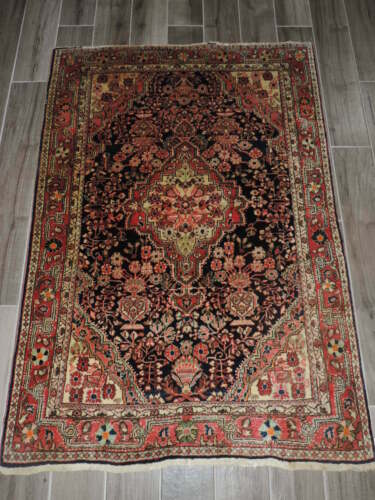 3x5ft.  Antique Handmade Jozan Sarouk Wool Rug