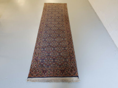 BIJAR CLASSIC HAND KNOTTED MULTI PATTERNED RUNNER RUG  248CMS X 80CMS