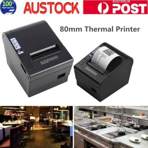 POS Thermal Receipt Printer 80mm Auto Cut USB w/ ESC/POS For Retail AU