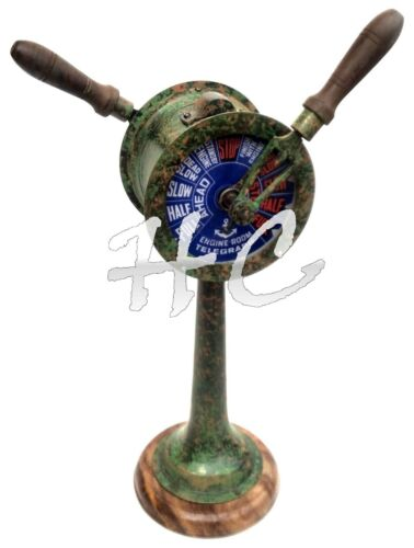 """14"""" Patina Finish Brass Ship Telegraph Collectible Antique Nautical Engine Room"""