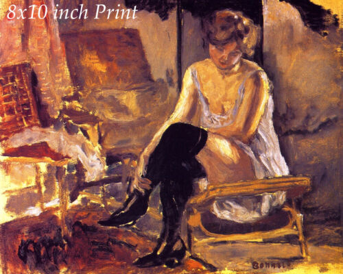 Young Woman Seated on Chaise Lounge by Pierre Bonnard - Sitting 8x10 Print 3078