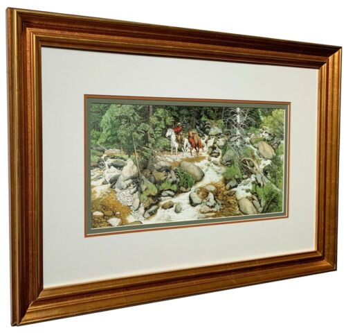 Bev Doolittle THE FOREST HAS EYES Matted & Framed Beautiful High Quality Frame