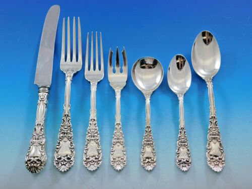 Renaissance by Dominick and Haff Sterling Silver Flatware Set Service 95 Pieces