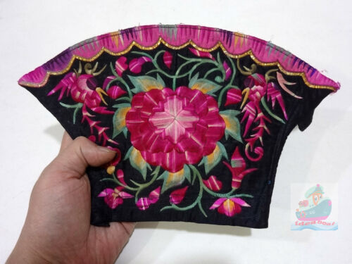 28x16cm Chinese ethnic minority women's Hand Embroidery floral piece