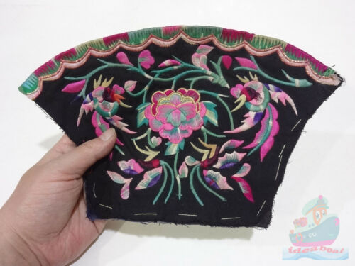 28x17cm Chinese ethnic minority women's Hand Embroidery floral piece
