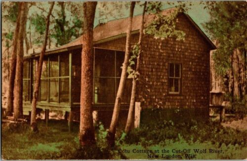 1910. COTU COTTAGE AT WOLF RIVER. NEW LONDON, WIS. POSTCARD. TW2