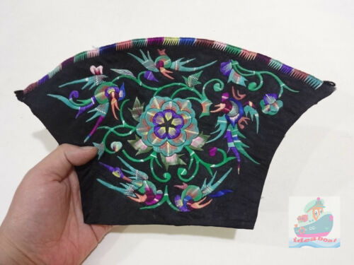 30x17cm Chinese ethnic minority women's Hand Embroidery floral piece