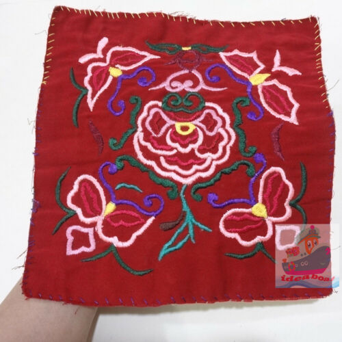 25x24cm Chinese ethnic minority women's Hand Embroidery floral piece