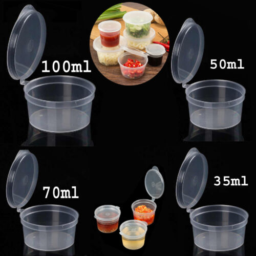 All Size Take Away Containers Takeaway Food Plastic Sauce BPA Free NEW