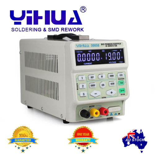 YIHUA 3005D 30V 5.0000A Regulated Adjustable DC high accuracy Power Supply AU