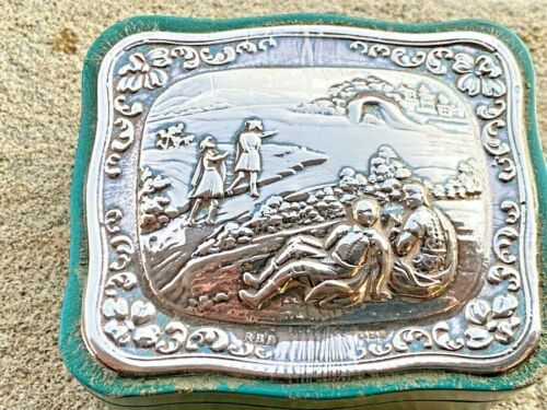 Sterling Silver Mounted Trinket Box - RBB - London - 1987
