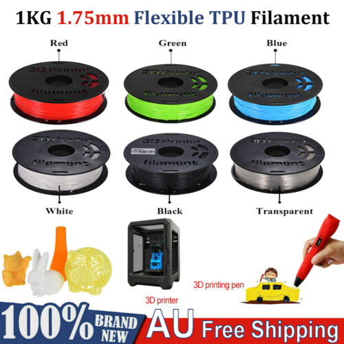 1KG 1.75mm Flexible TPU Filament Printing Material Supplies for 3D Printer Pens