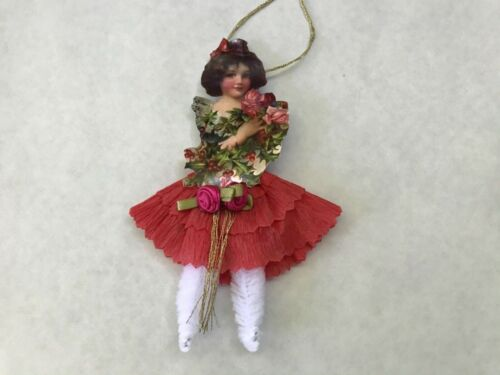 Paper doll Vintage inspired Dresden ornaments, item# 12, Victorian child
