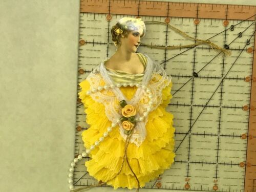 Paper doll Vintage inspired Dresden ornaments, item# 15, Victorian lady