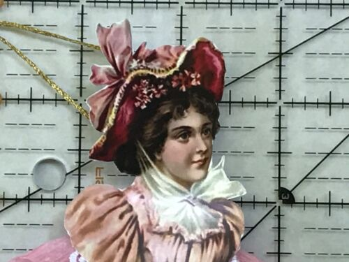 Paper doll Vintage inspired Dresden ornaments, item# 4, Victorian lady