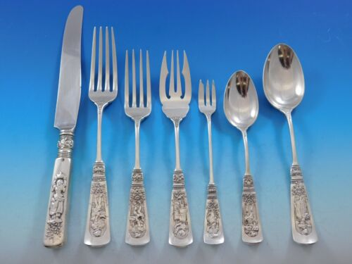 Fontainebleau by Gorham Sterling Silver Flatware Set for 8 Service 73 Pieces