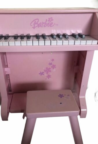 Rare 2005 Barbie B-Musical Child Size Upright Piano With Bench
