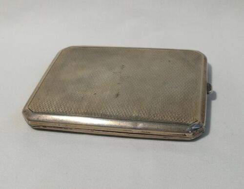 Vintage Solid Silver cigarette case Size 105x83mm , weight 130g