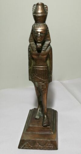 Pro-owned Egyptian King  bronze Statue H22cm